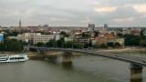 Varadin Bridge and central Novi Sad skyline