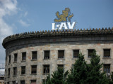 LAV beer advertisement atop the Central Post Office