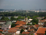 Zemun view with Ascension of Virgin Mary Church