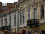 Facades and balconies in downtown Zemun