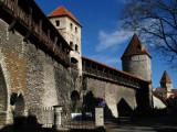 City walls along Gümnasiumi