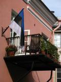 Balcony with Estonian flag