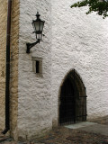 Lantern and gated entrance in Toompea