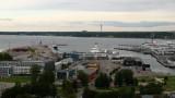 Tallinn's port and distant TV Tower