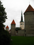 Stone towers and St. Olaf's from outside the walls