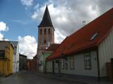 Buildings on Lutsu with St. John's Church