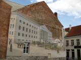 Mural depicting Tartu University