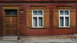 Facade of an old wooden house in Supilinn
