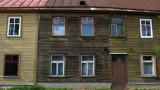 Slightly warping old houses on Marja