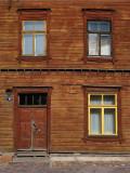 Symmetrical windows and door