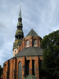 Rear of St. Peter's Church in Old Rīga