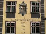 Facade of a teahouse on Skārņu iela