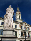 Back of the Roland Statue and Town Hall