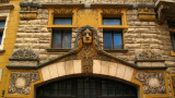 Art Nouveau touch on an Old Town facade