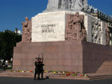 Latvian guards beside the Freedom Monument
