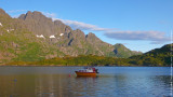 Little fishing boat at Lofotens