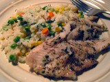 pan-fried wild white fish with herbs and colorful vegetable rice IMG_0053.jpg