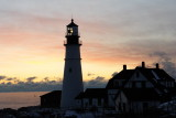 DSC00479.jpg SEA SMOKE BLANKETS PORTLAND HEAD LIGHT SUNRISE donald verger maine lighthouses, frozen!