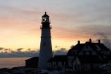 DSC00479.jpg SEA SMOKE BLANKETS PORTLAND HEAD LIGHT SUNRISE donald verger maine lighthouses, frozen!