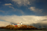 154DSC03436.jpg WILD SNOW SQUALL AND WATERSPOUT AT NUBBLE LIGHTHOUSE