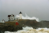 NOR EASTER BEARS DOWN ON NUBBLE LIGHTHOUSE YORK MAINE ... maybe the best moment of 4,000 clicks over 2 days