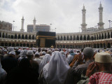 The friday prayer in the haram.