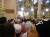 towards the grave of prophet Mohamed (pbuh)