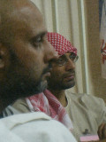 pondering,some of the boys from al muntada compaign.