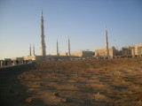 the cemetry is just behind the haram.Medina