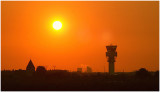 Orange control tower