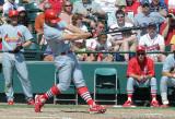 25152c - Pitcher Tony Reyes hits HR
