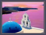 Blue Dome Church Santorinin