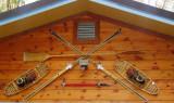 wooden memories over the garage door