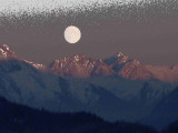 full moon north of Anchorage November 2005