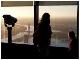 Waiting for sunset at Melbourne observation deck