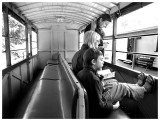 A family onboard the Puffing Billy