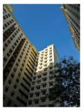A corner of blue sky