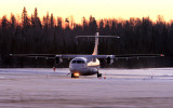 Exiting rwy 18 at La Ronge early morning to pick up more pax.