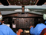 Short final rwy 33 at Points North Landing during my introductory jump seat ride.