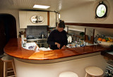 Diana in the galley