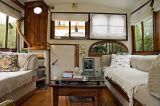 Comfortable main cabin on the Swan