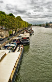 Cloudy day along the Seine