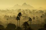 Camelback Mountain in the morning fog