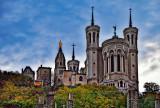 Notre Dame Basilica, evening in Lyon