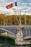 Bridge across the Rhône, Lyon