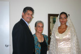 With dad and grandmother,just before..