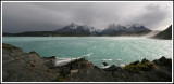Cuernos del Paine & Lake Pehoe in the Wind