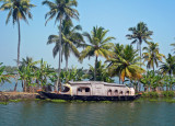 BOAT AND COCONUT trees
