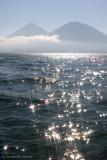 Vista de los Volcanes Toliman y Atitlan  Desde esta Cabecera