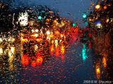 Rainy Night Abstract - Challenge Night Lights